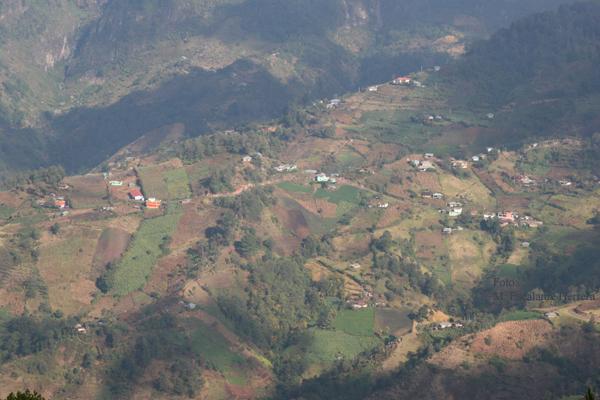Vista Parcial de la Cabecera desde el Tajumulco a 3,400 mts