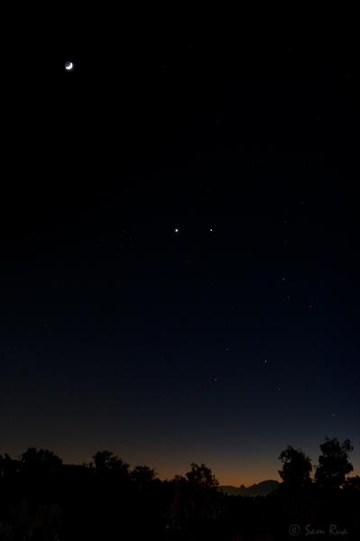 Crescent Moon, Venus, and Jupiter: Act IV
