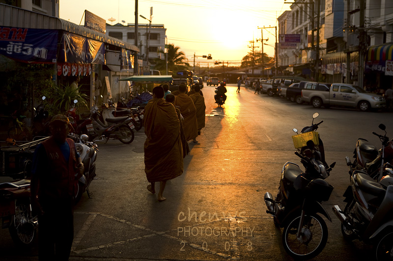 Monks in town