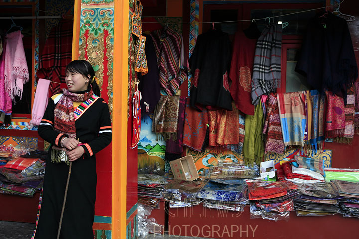 Tibetan girl in Sichuan, China