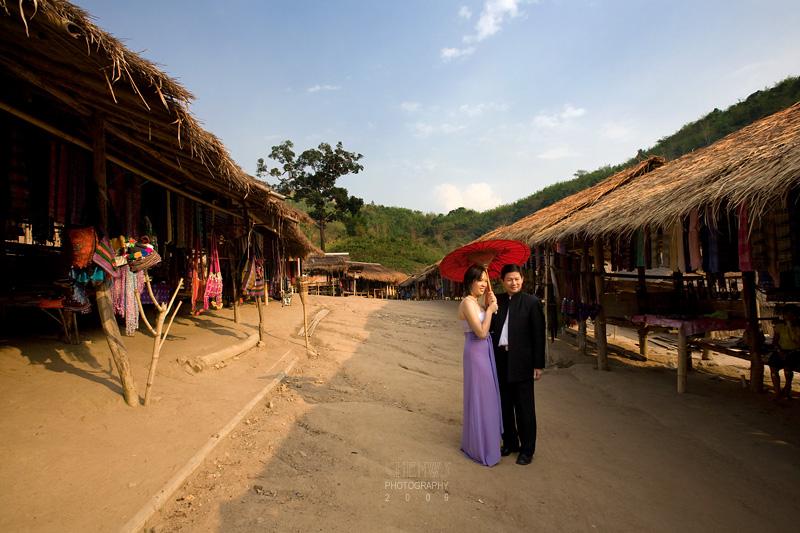 Murphy and Sherli, in Mae Sa Thailand