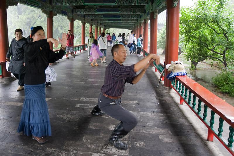 Beijingites practices wushu