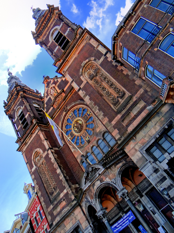 Fabulous light at Church of St Nicholas,Amsterdam