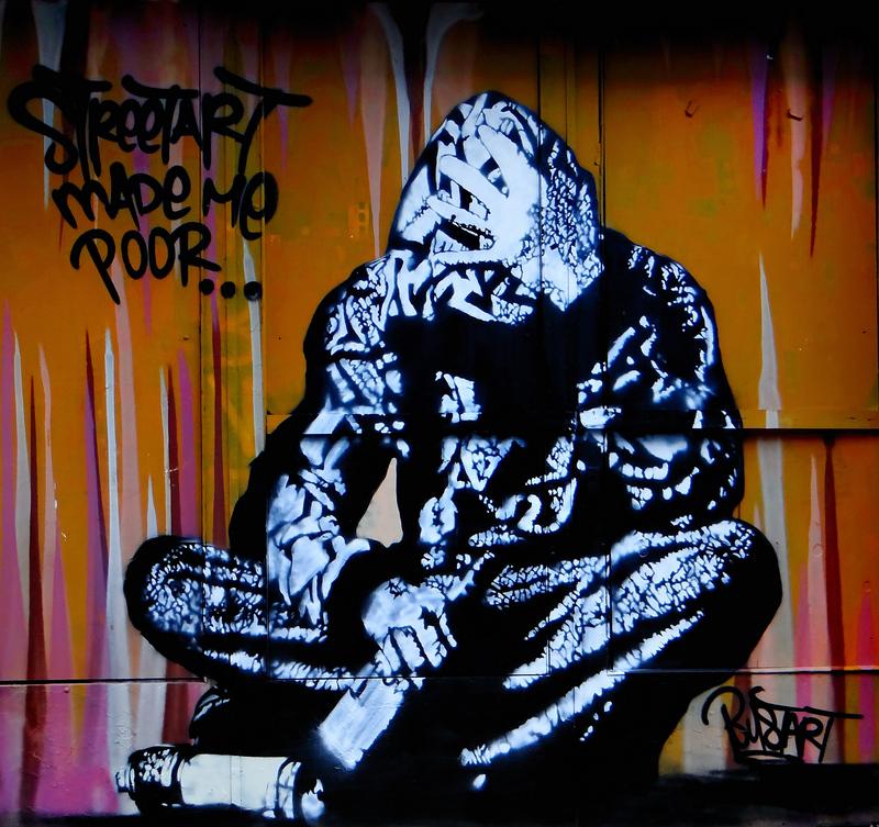 StreetArt Made me Poor ... (Amsterdam StreetArt)