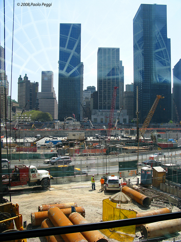 Ground Zero to work, as seen from the World Financial Center