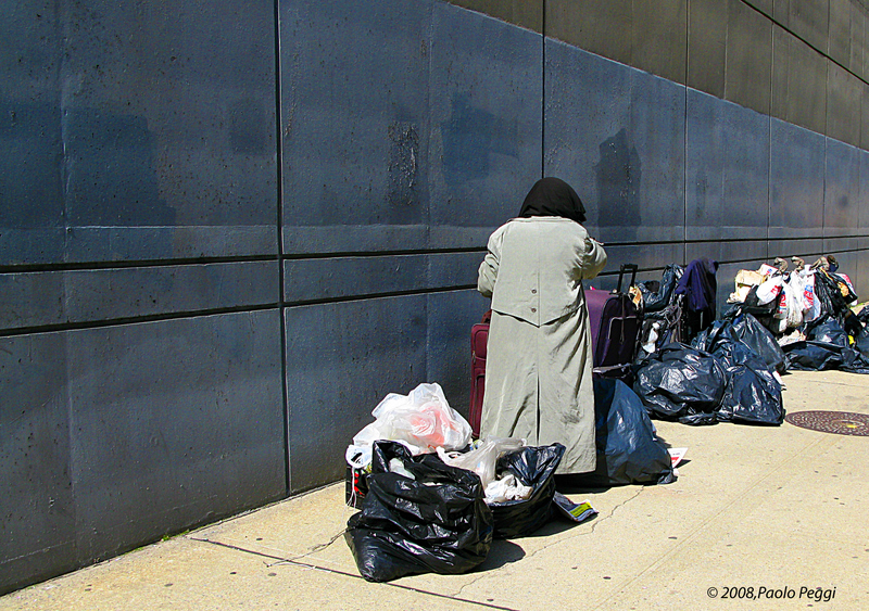Woman homeless in NY