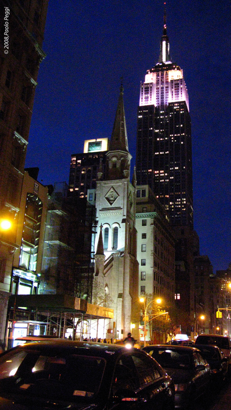 The Empire State at night