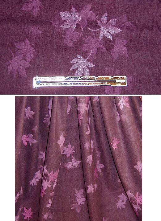 Plum Cotton/Lycra Suiting
