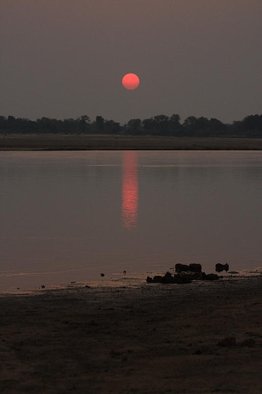 Sunset on the Luangwa River