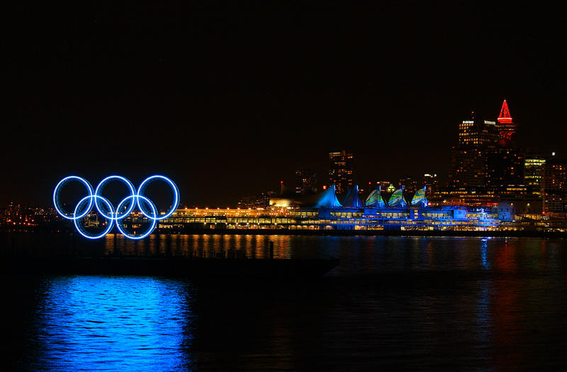 The Olympic Rings and Canada Place