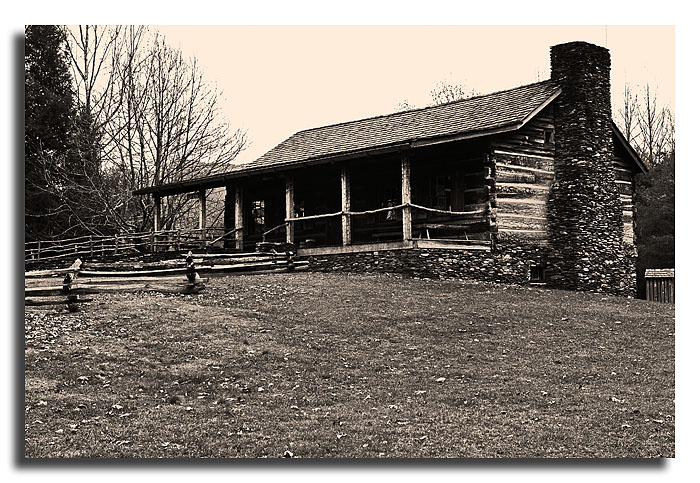 Cades Cove Gift Shop:  Aged in Photoshop