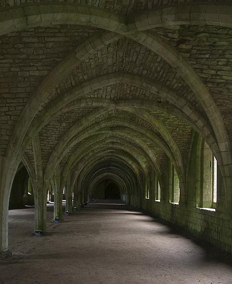 Monks Cellarium, Fountains Abbey
