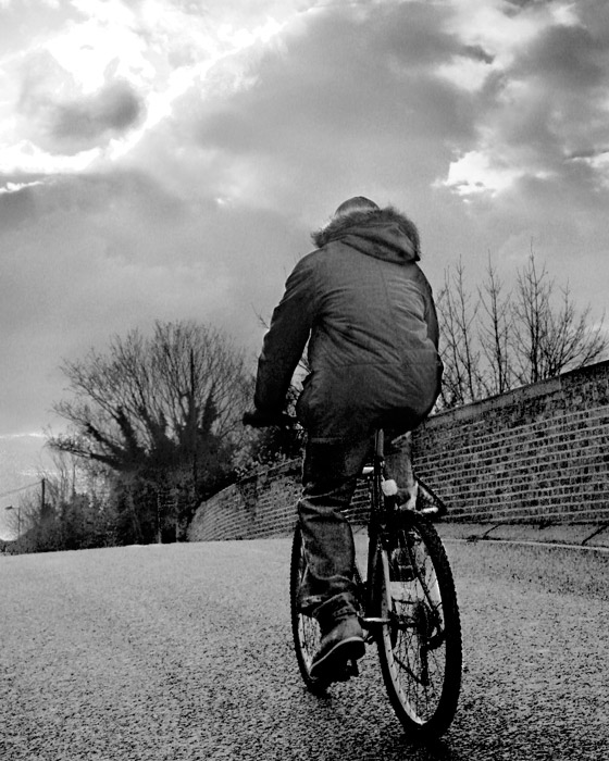 Bike over Bridge<br>by Glyn