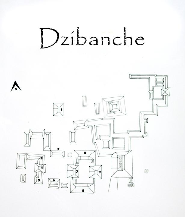 Dzibanche Map