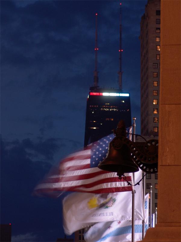 Michigan Avenue Bridge Flags