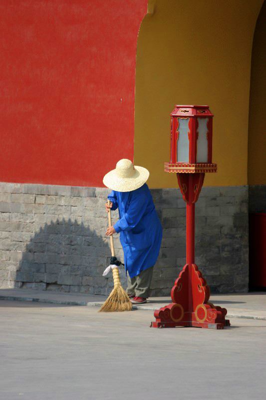 Sweeping The Temple of Heaven