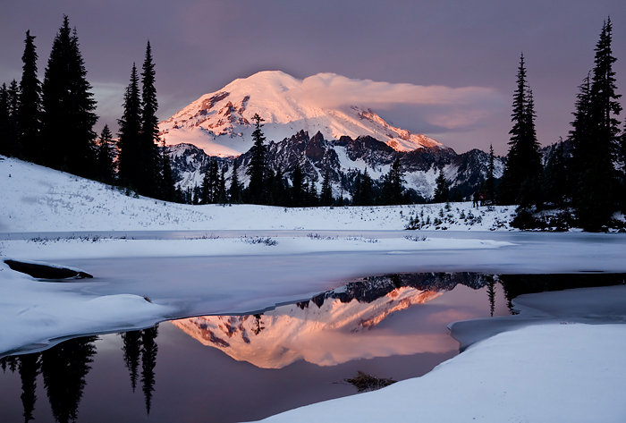 Mt. Rainier  Winter Sunrise
