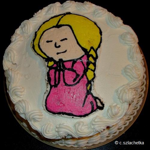 girl praying cake