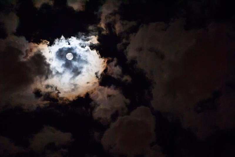 Moonlit Cloudy Night