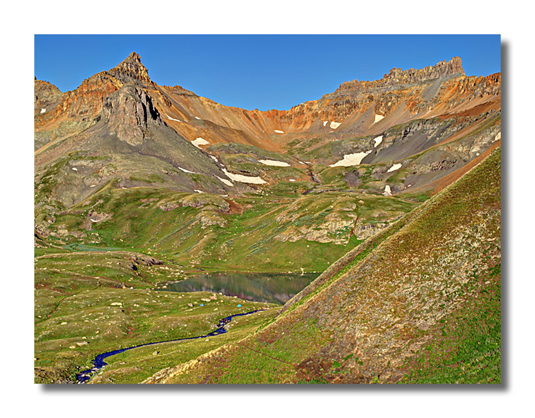 Golden Horn and Pilot Knob above Ice Lake