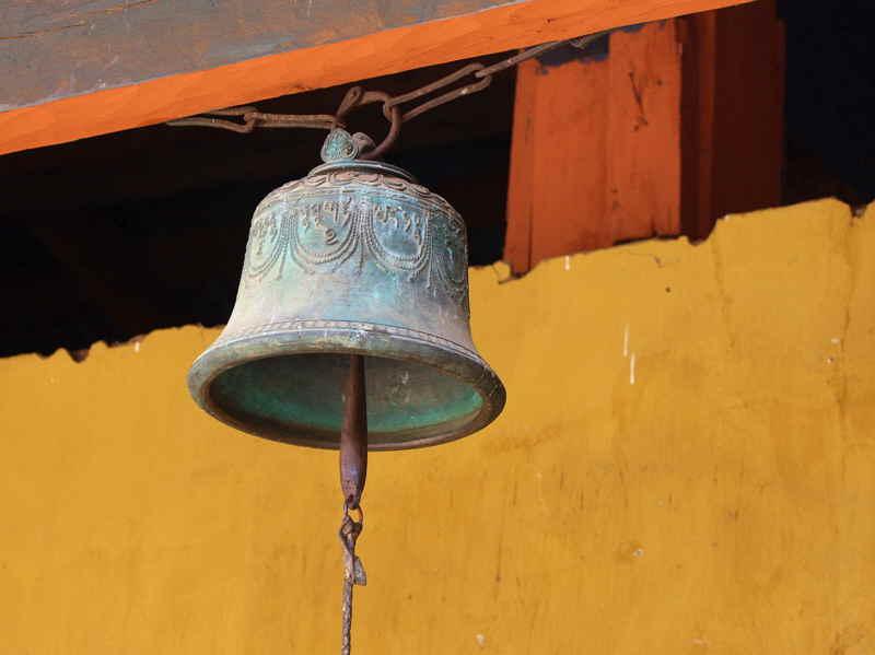 An ancient bell, Punakha Dzong