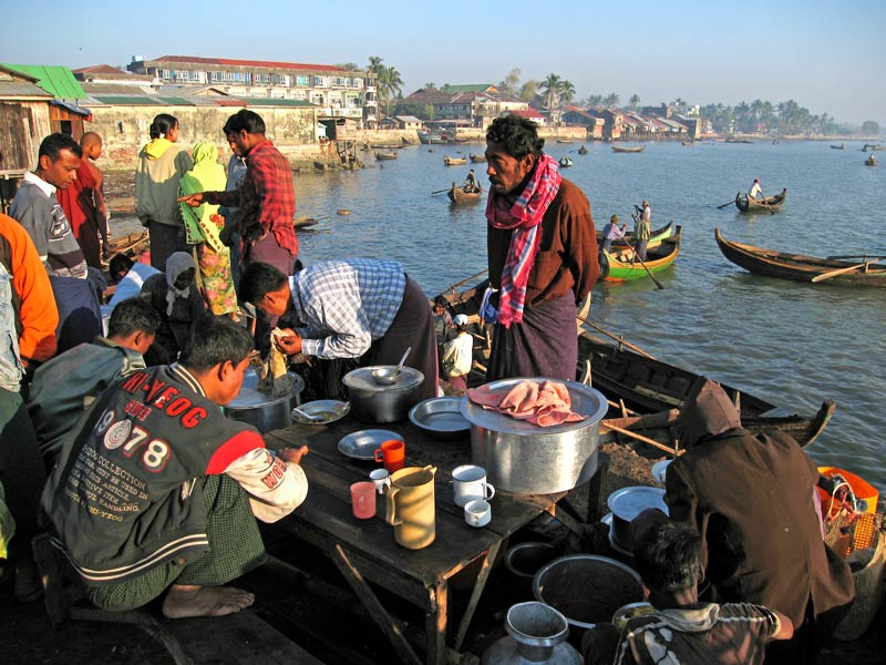 Harbour food stall