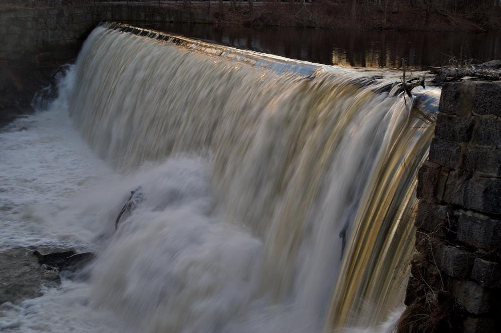 Evening light on the Saxonville falls