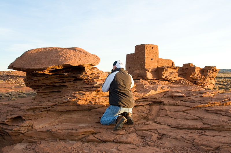 Shooting the Wupatki Pueblo