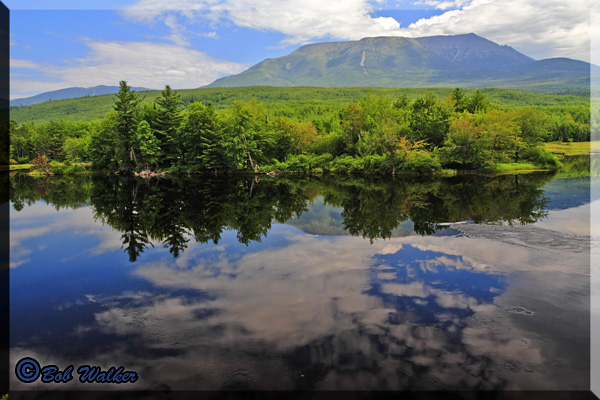A Scenic View Of Mount Katahdin, The Highest Mountain In The State Of Maine
