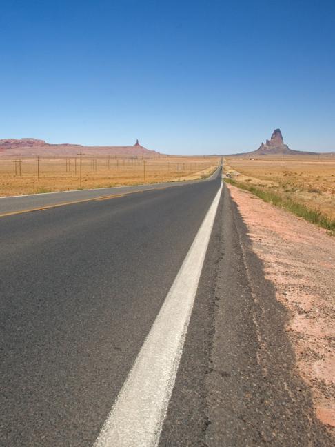 Route 163 north of Kayenta