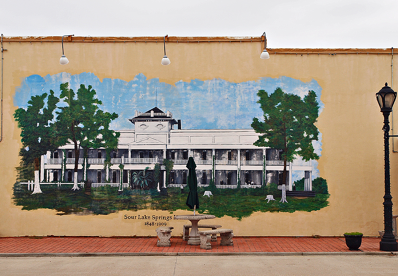 The Sour Lake Springs Hotel Mural Located At 6th And Merchant Street In