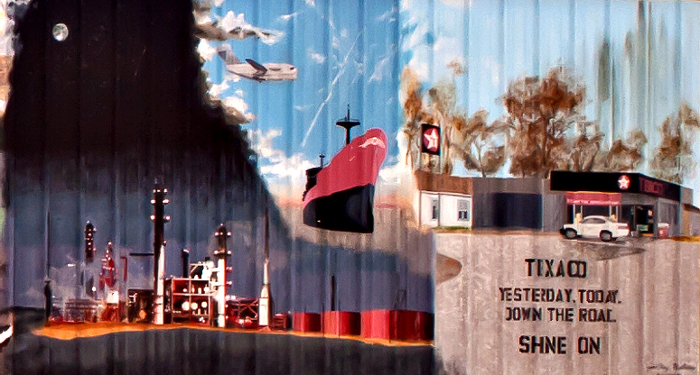 A second crop of the larger Texaco Mural