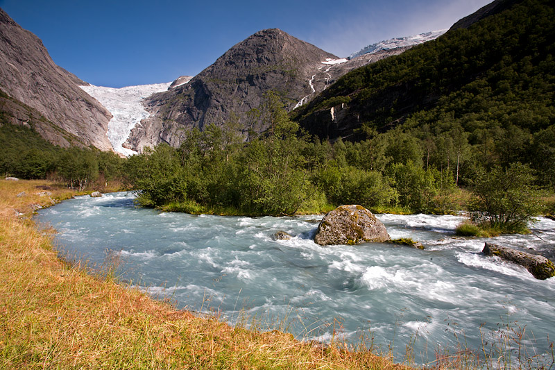 Melting Waters from the Briksdal Glacier (Briksdalsbreen)