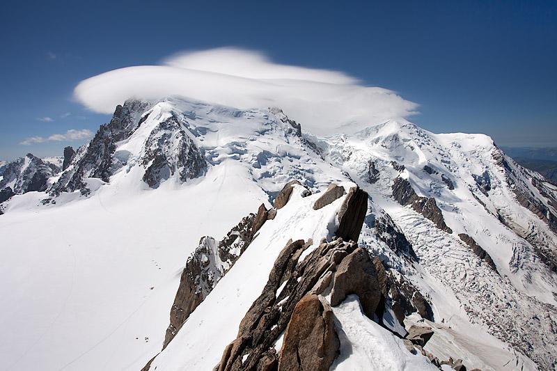 Aguille du Midi: Mont Blanc and UFO