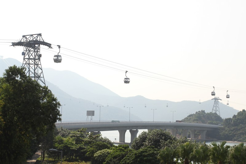 bridge to airport from Tung Chung and cable car to Big Buddha
