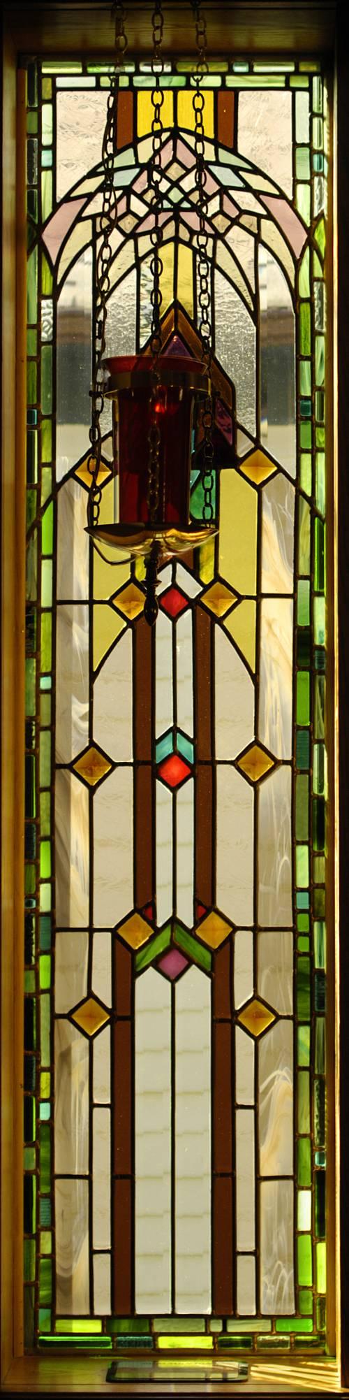 Window 4, Communion, with Lamp