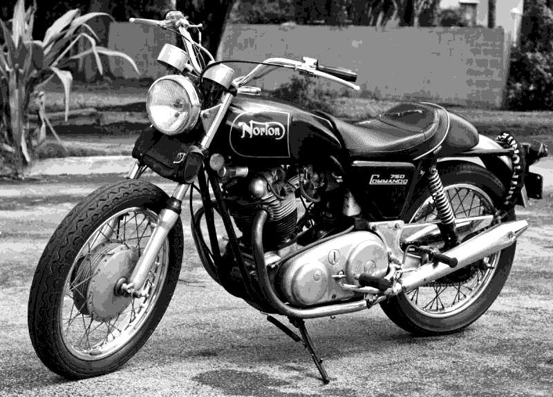 old Norton still being riden in Miami