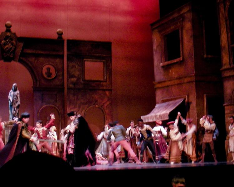 A gentleman of Verona (Daniel) is killed by Tybalt, Lord Capulets nephew.