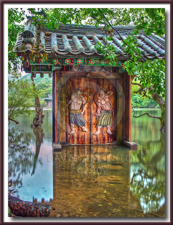 temple gate spring summer fall autumn winter and