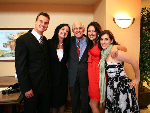 Brian Virgili, Joyce Huff, Leonard Virgili, Summer & Della Huff