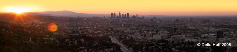 Los Angeles Sunrise Panorama