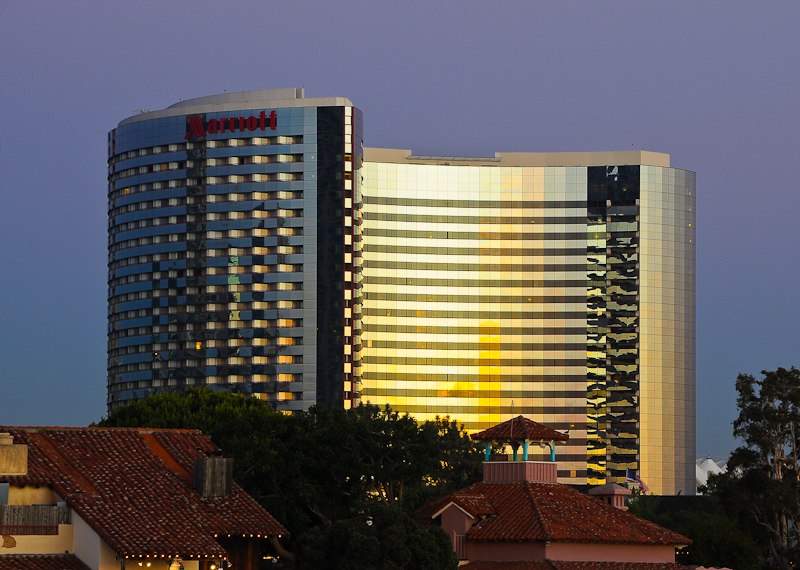 Hotel at Sunset