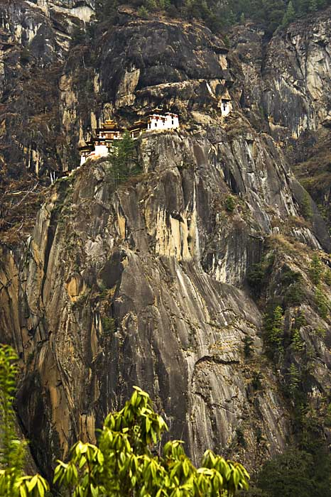 Taktsang Lhakhang - Tigers Nest -  high up on a sheer rockface