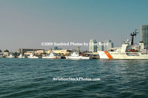 2009 - the cutter fleet is in at Sector Miami (former Base Miami Beach) stock photo #1631