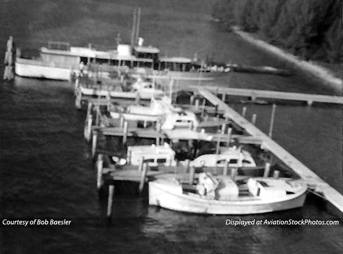 1960s - President Kennedys presidential yacht HONEY FITZ moored at the new concrete docks at USCG Station Lake Worth Inlet