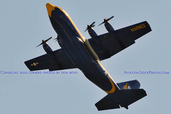 USMC Blue Angels C-130T Fat Albert (New Bert) #164763 military air show aviation stock photo #6212
