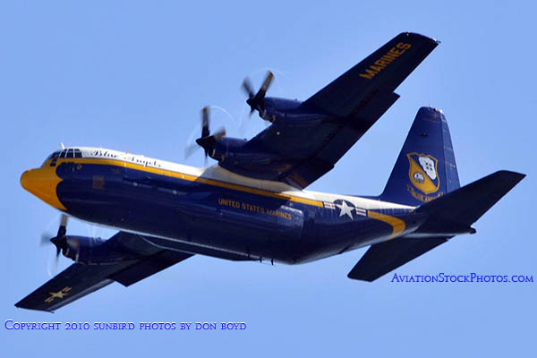 USMC Blue Angels C-130T Fat Albert (New Bert) #164763 military air show aviation stock photo #6213