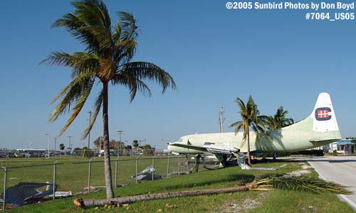 Hurricane Wilma damage at Opa-locka Airport - entrance to Coast Guard Air Station Miami aviation stock photo #7064