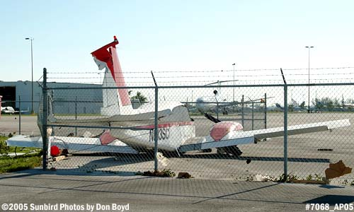 Hurricane Wilma damage - Air Recovery Inc.s Piper PA-23-250 N813SC damage by Hurricane Wilma stock photo #7068