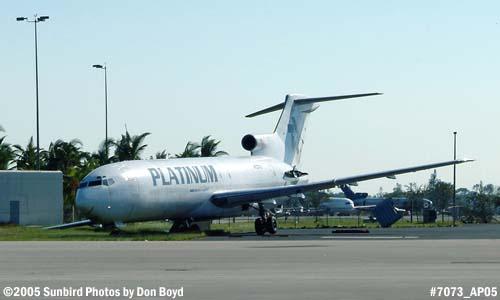 Platinum Air B7272-232/Adv(F) N727PL blown sideways by Hurricane Wilma stock photo #7073
